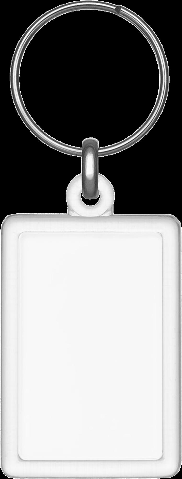 Plastic Rectangle Keychain