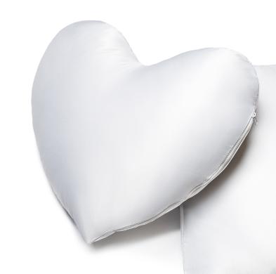 Hartvormig kussen bedrukken